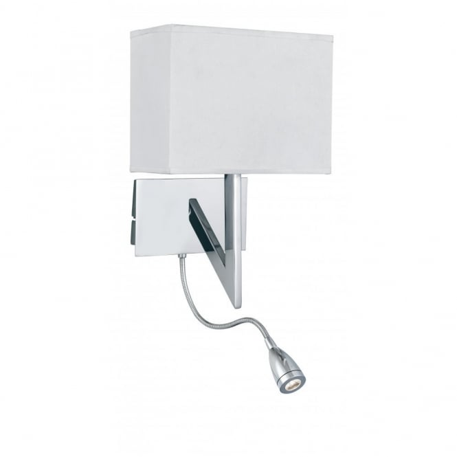 Lighting Catalogue LIGHTNING wall light with flexible LED reading arm