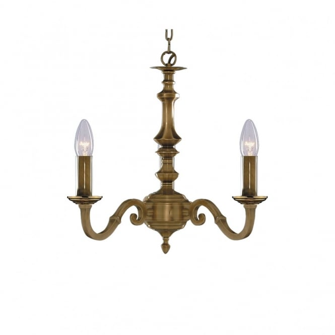 Lighting Catalogue MALAGA traditional antique brass candle style ceiling light