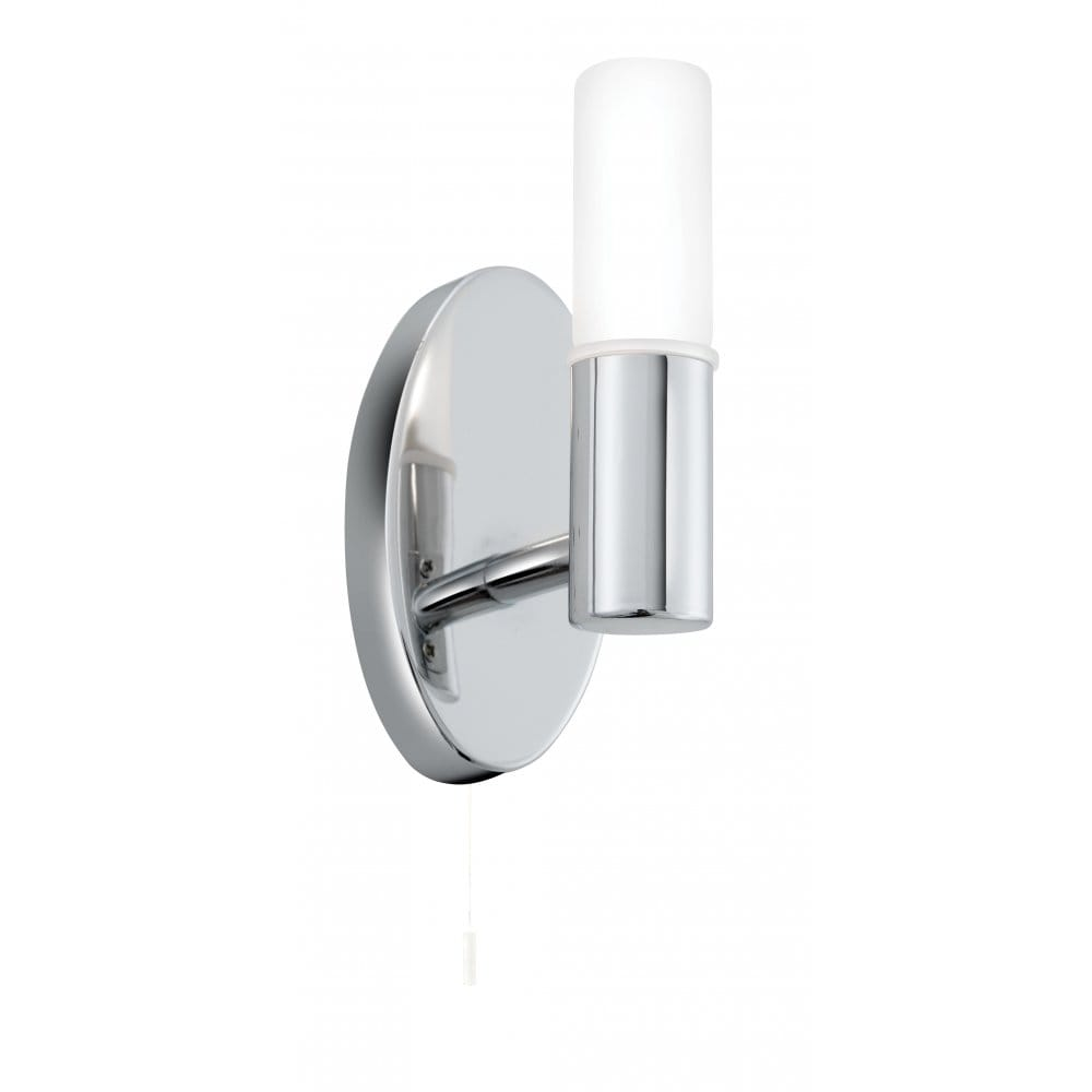 Ip44 Chrome Bathroom Wall Light With Switch For Zones 1 And 2