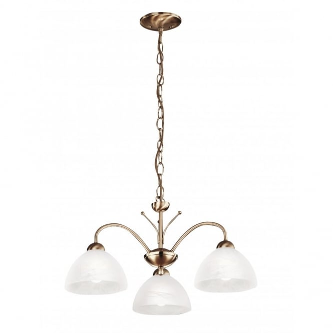 Lighting Catalogue MILANESE antique brass 3 light ceiling pendant