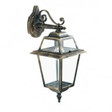 NEW ORLEANS traditional black gold garden wall lantern