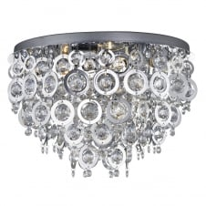 decorative chrome and acrylic droplet ceiling light