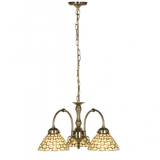 Lighting Catalogue RAINDROP Tiffany cream glass ceiling light