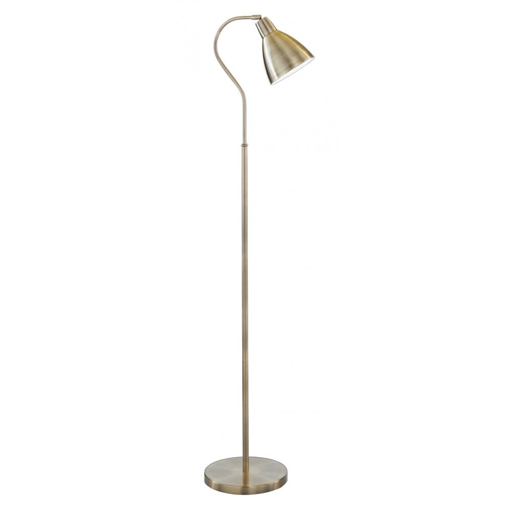 lighting catalogue reading floor lamp antique brass with moveable head. Black Bedroom Furniture Sets. Home Design Ideas