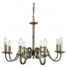 traditional 8 light antique brass ceiling pendant