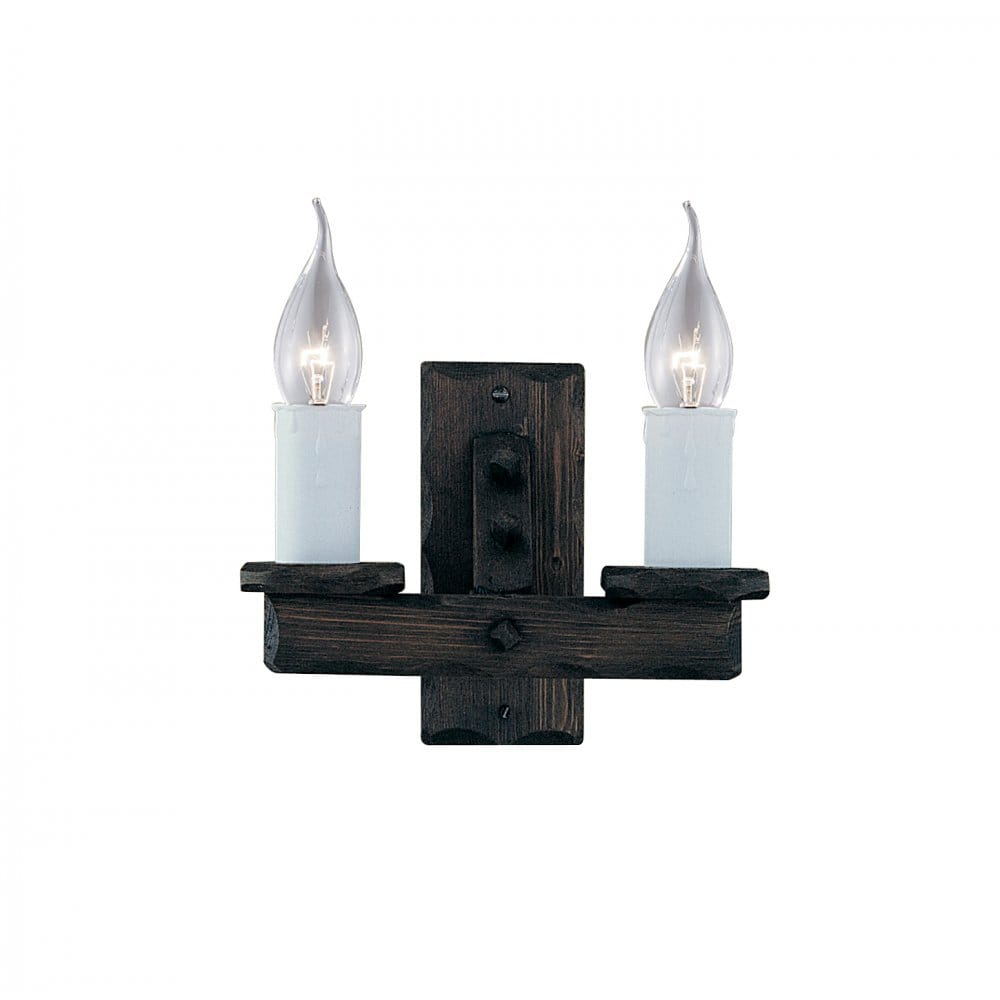 Wooden Style Wall Lights : Rustic Style Jacobean Wooden Wall Light