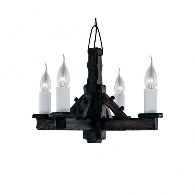 Lighting Catalogue RUSTIC Jacobean wooden ceiling pendant light