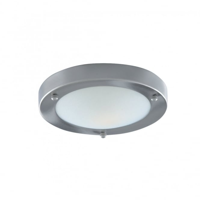 Lighting Catalogue SATIN silver and marble glass bathroom ceiling light