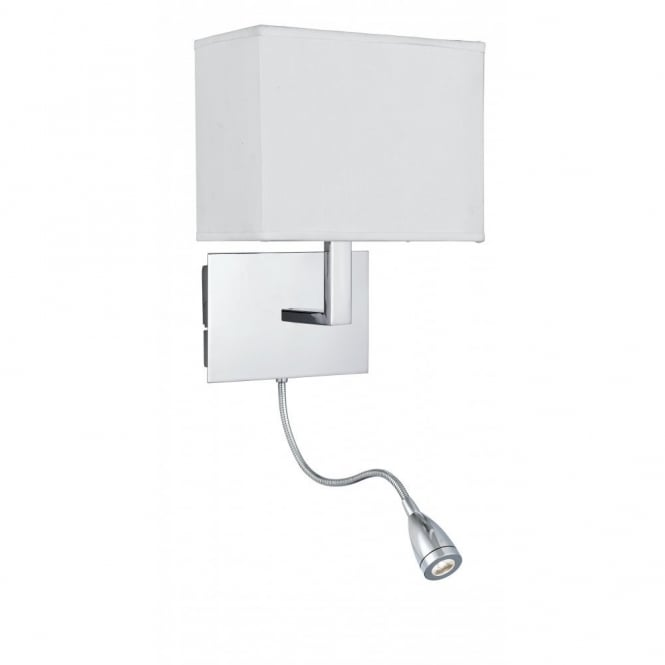 sc 1 st  The Lighting Company & Low Energy Over Bed Chrome Wall Light with LED Flexible Reading Arm azcodes.com