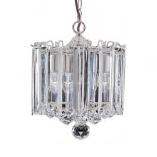 modern chrome and crystal 3 light ceiling pendant