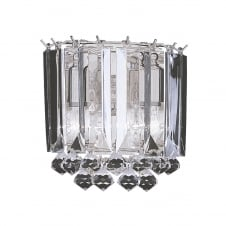 decorative crystal and acrylic wall light