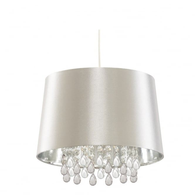 Lighting Catalogue SILVER ceiling pendant with acrylic bead droplets