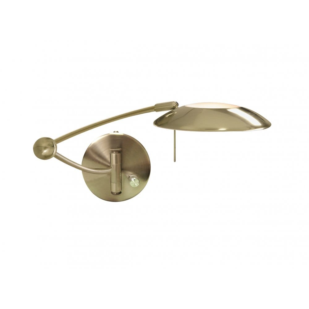 Wall Lights Scandinavian : Fully Adjustable Swing Arm Wall Light in Antique Brass