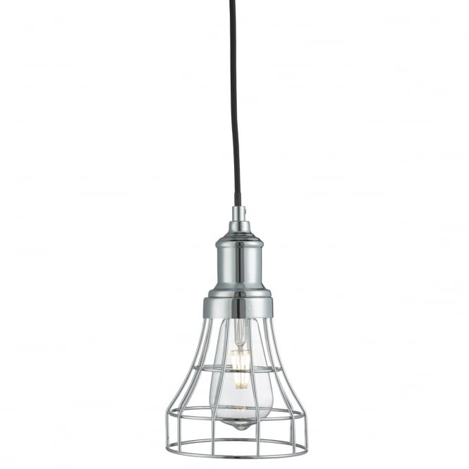 Lighting Catalogue TAPERED CAGE ceiling pendant light in chrome
