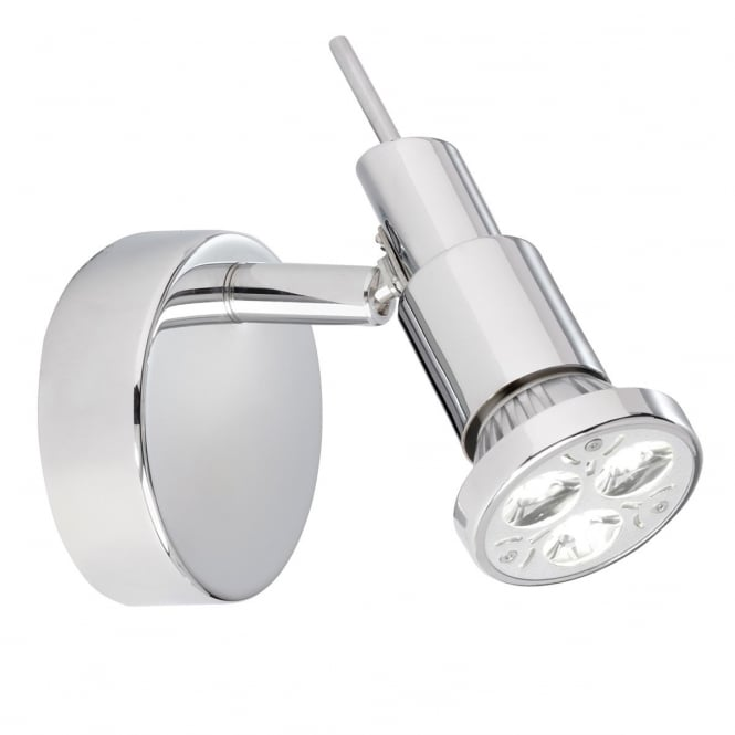 Lighting Catalogue TORCH polished chrome LED modern wall spotlight