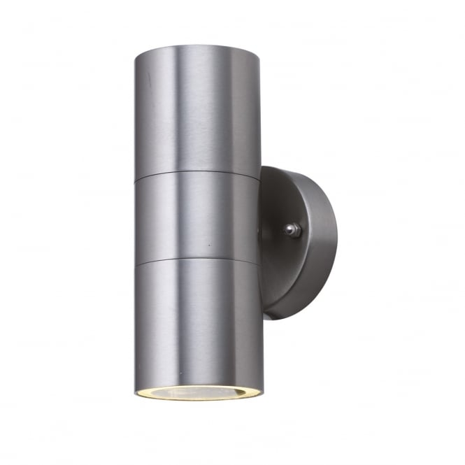 TUBE twin stainless steel exterior wall light
