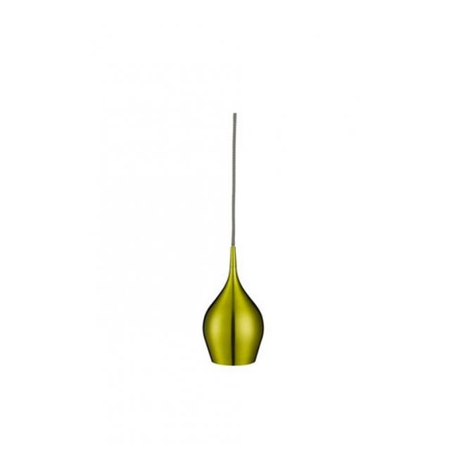 Lighting Catalogue VIBRANT contemporary single green finished metal pendant