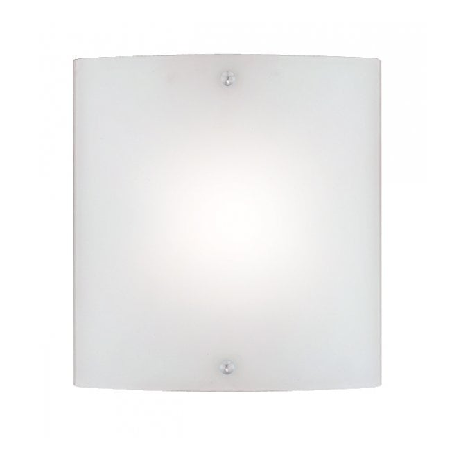 Wall Light Glass Panel : Curved Glass Panel Wall Light with Switch