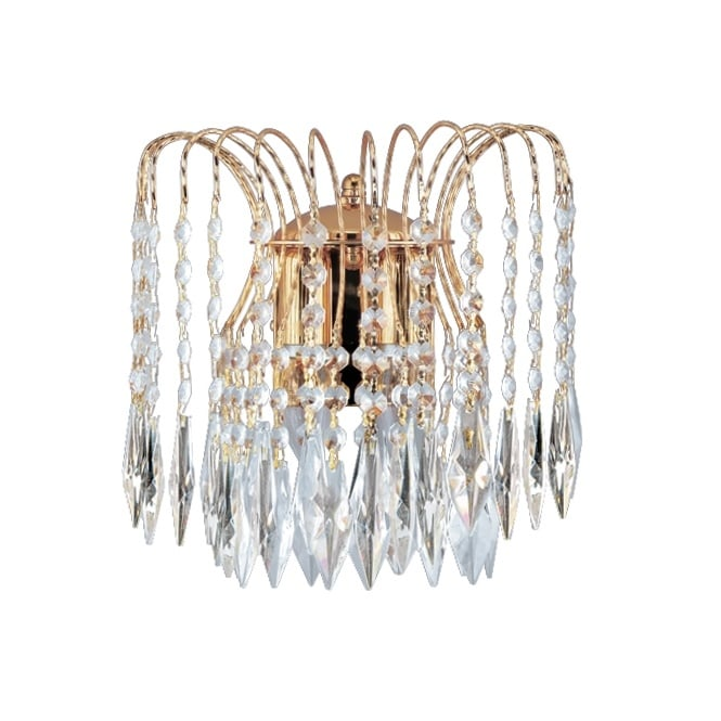 Lighting Catalogue WATERFALL gold & crystal wall light