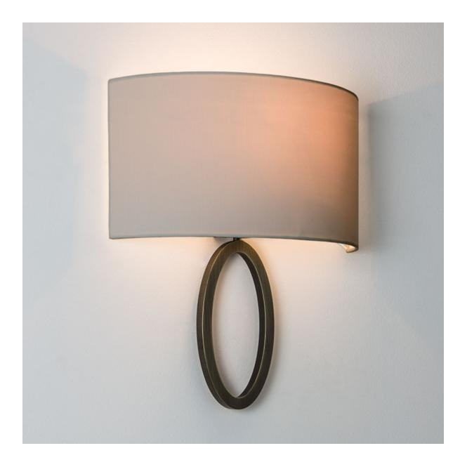 Contemporary flush wall light in bronze with shade dimmable lima contemporary flush ring wall light with shade bronze mozeypictures Image collections