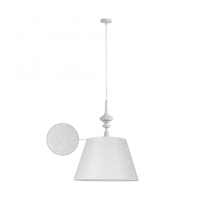 ALADDIN contemporary ceiling pendant (white)