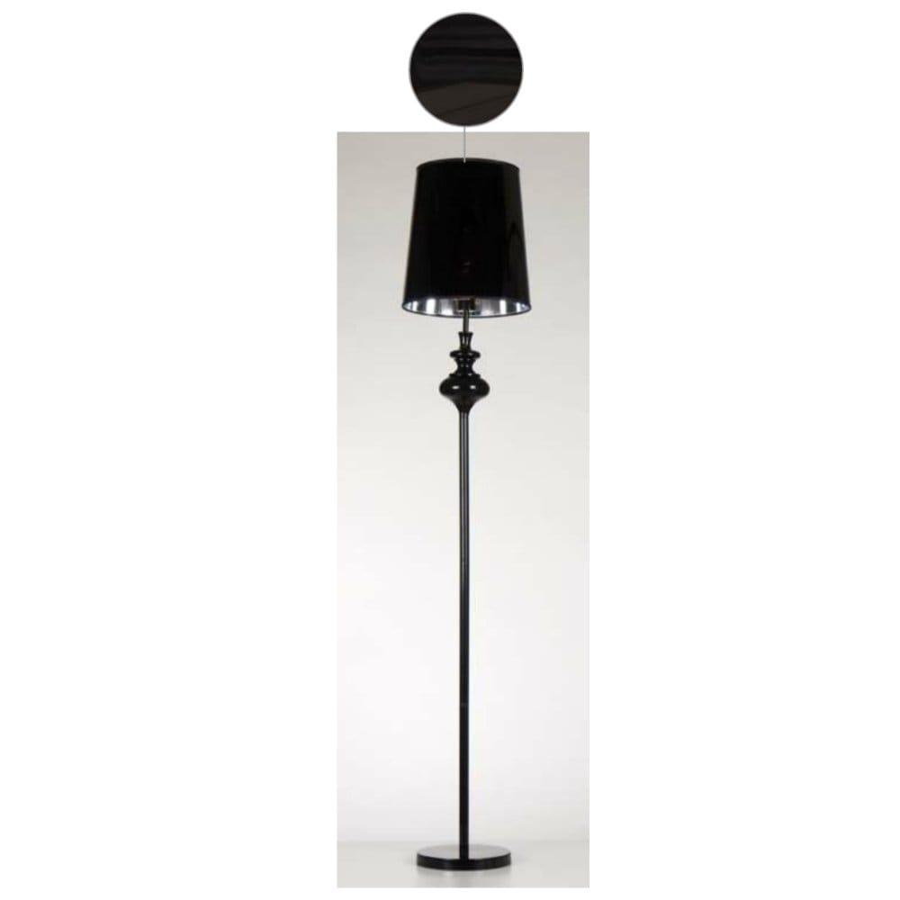 Amazon Uk Modern Floor Lamp: Contemporary Black Floor Lamp With Black Glossy Shade