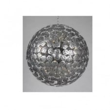BACCARA brushed silver floral globe ceiling pendant