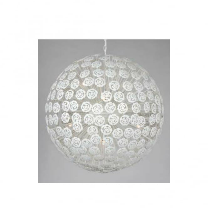 BACCARA white floral globe ceiling pendant