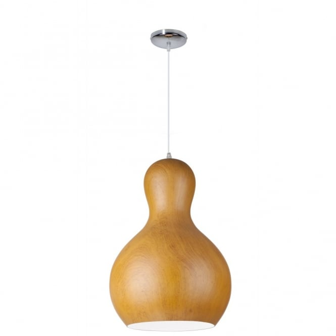 Linea Verdace BARBAPAPA contemporary bobbled single wooden ceiling pendant (dark wood - large)