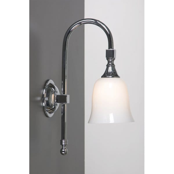 traditional bathroom light bath classic bathroom wall light chrome swan neck period 14793