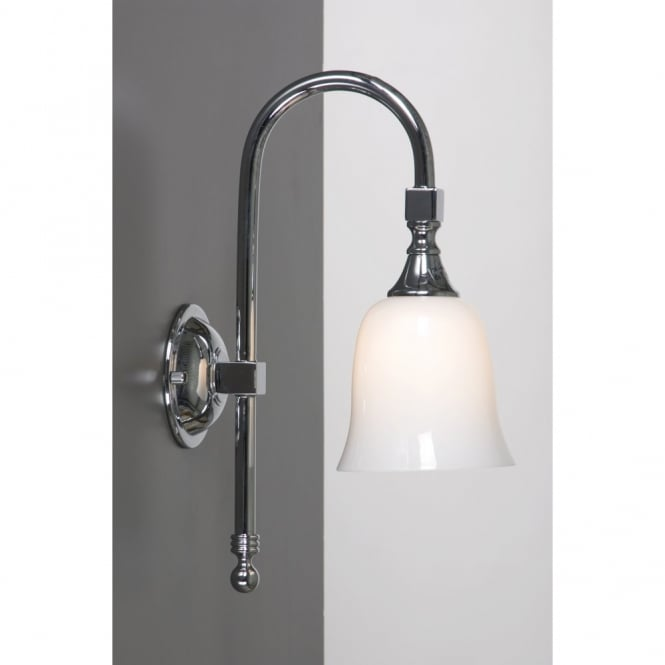 Bath Classic Bathroom Wall Light Chrome Swan Neck Period Style Design - Period bathroom lighting