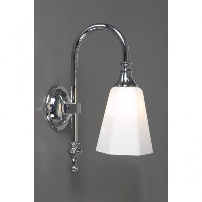 Bath classic traditional period wall light ip44 opal glass shade bath classic traditional chrome bathroom wall light aloadofball Images