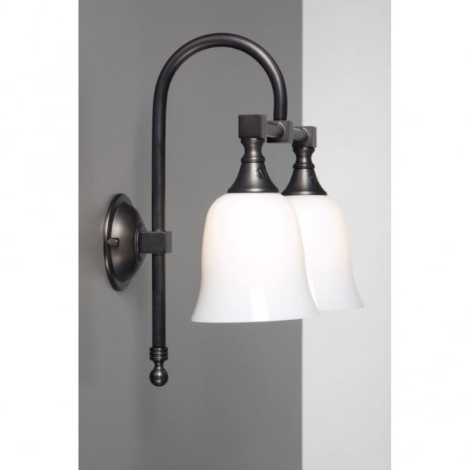 Linea Verdace BATH CLASSIC traditional double bathroom wall light, aged brass