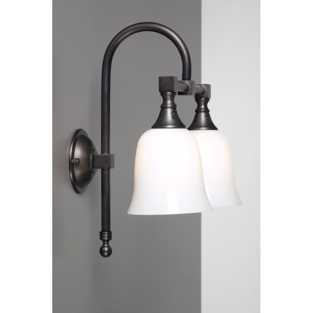 Bath Classic Traditional Double Bathroom Wall Light In Aged Brass