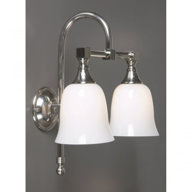 Satin silver traditional bathroom wall light quality for Traditional bathroom wall lights