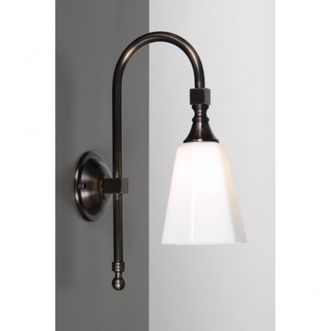 Linea Verdace BATH CLASSIC traditional IP44 aged brass bathroom wall light