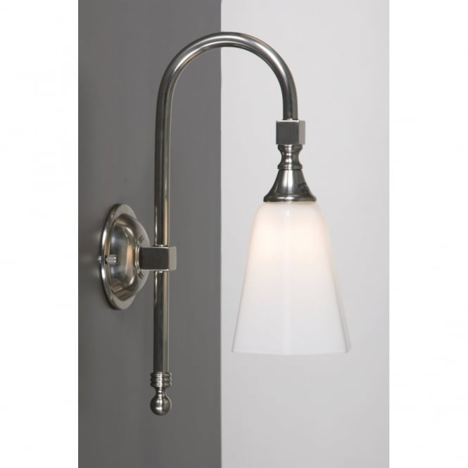 Old fashioned single ip44 bathroom wall light for period for Traditional bathroom wall lights