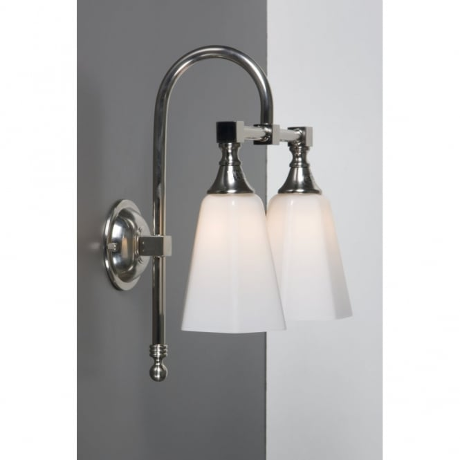 Ip44 Traditional Bathroom Wall Light In Satin Nickel With
