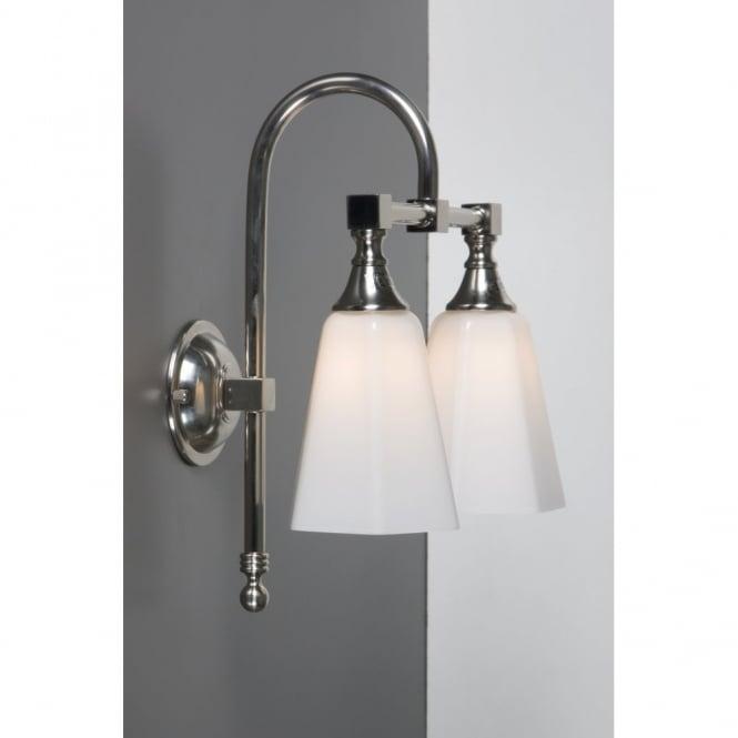 BATH CLASSIC twin bathroom wall light satin nickel  sc 1 st  The Lighting Company & IP44 Traditional Bathroom Wall Light in Satin Nickel with Opal Shades