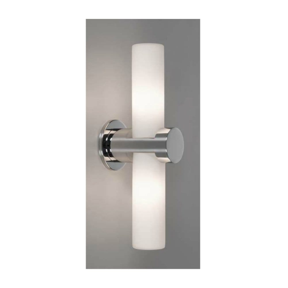 Double Wall Lights Chrome : Modern Chrome Bathroom Double Wall Light, IP44. Contemporary Lighting.
