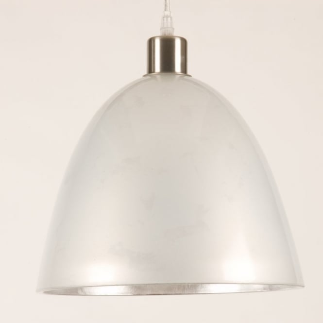 Linea Verdace CAIRO large ivory glass pendant light shade (part of a set)