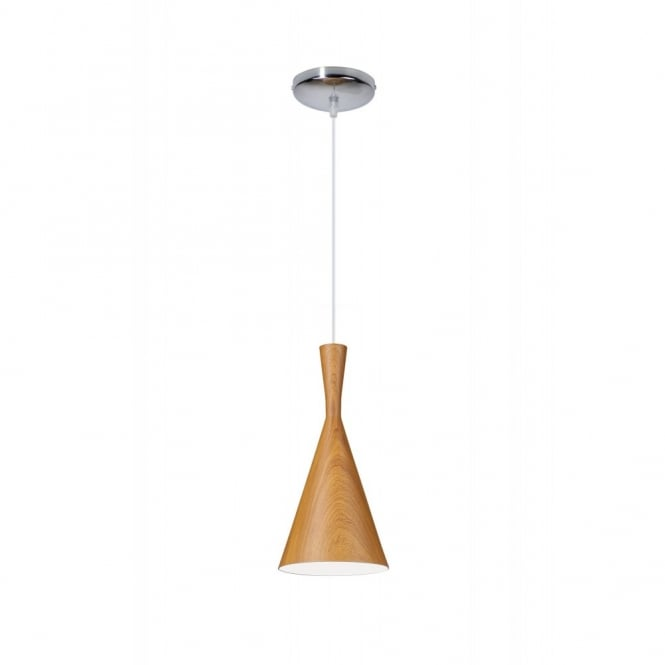 Linea Verdace CLESSIDRA contemporary tapered single wooden ceiling pendant (dark wood)