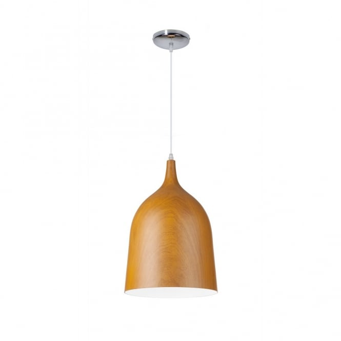 Linea Verdace CLOCHE contemporary single ceiling pendant in dark wooden finish