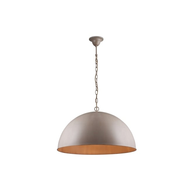 Linea Verdace CUPULA CLASSIC dome ceiling pendant in pale taupe finish (large)