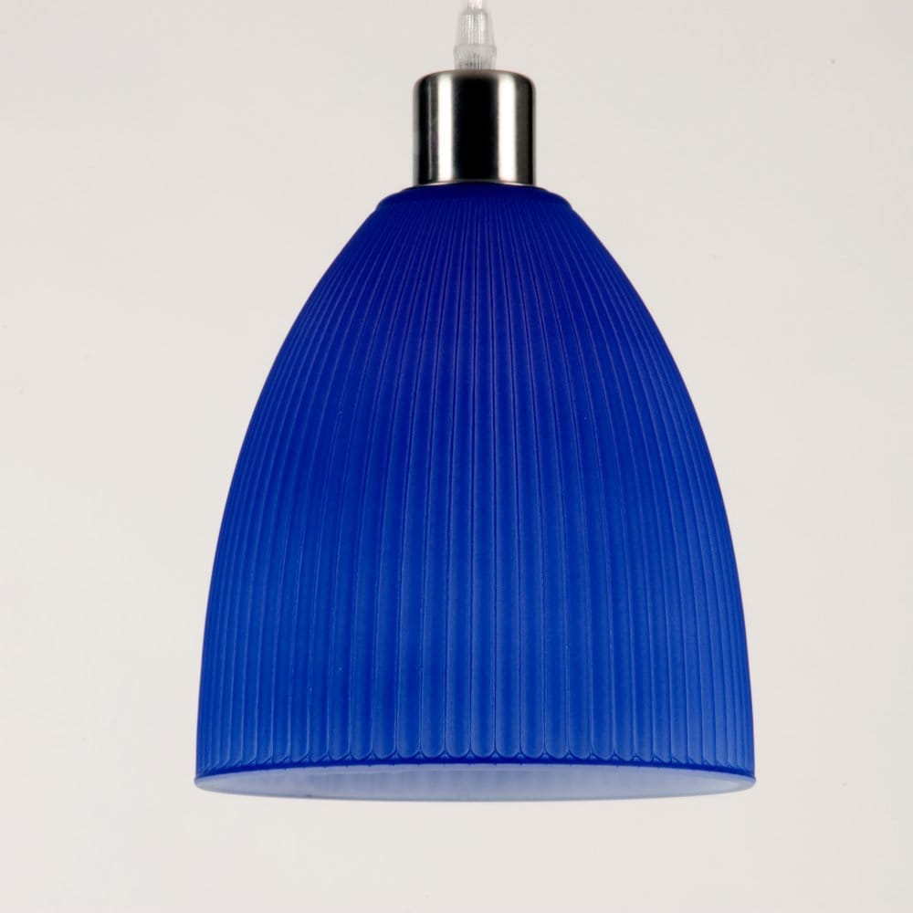 Funky Retro Style Ceiling Pendant Shade In Royal Blue