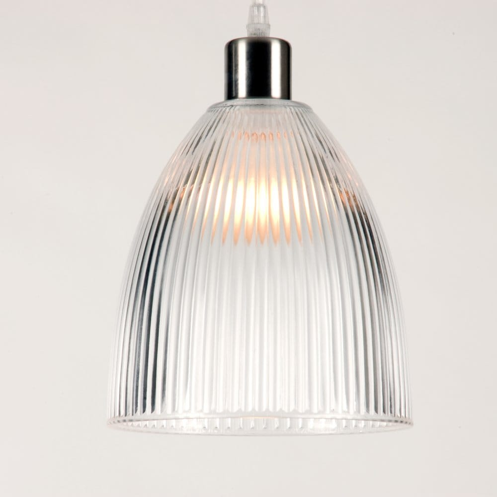 Pendant light clear glass shade : Ceiling shade for pendant light clear ribbed glass