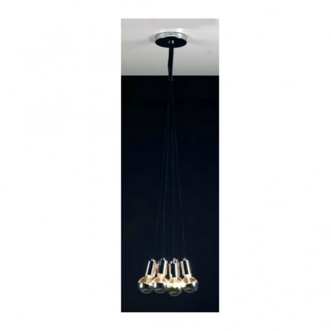 Linea Verdace GLOBE TROTTER contemporary ceiling cluster pendant (black)