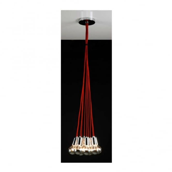 Linea Verdace GLOBE TROTTER contemporary ceiling cluster pendant (red)