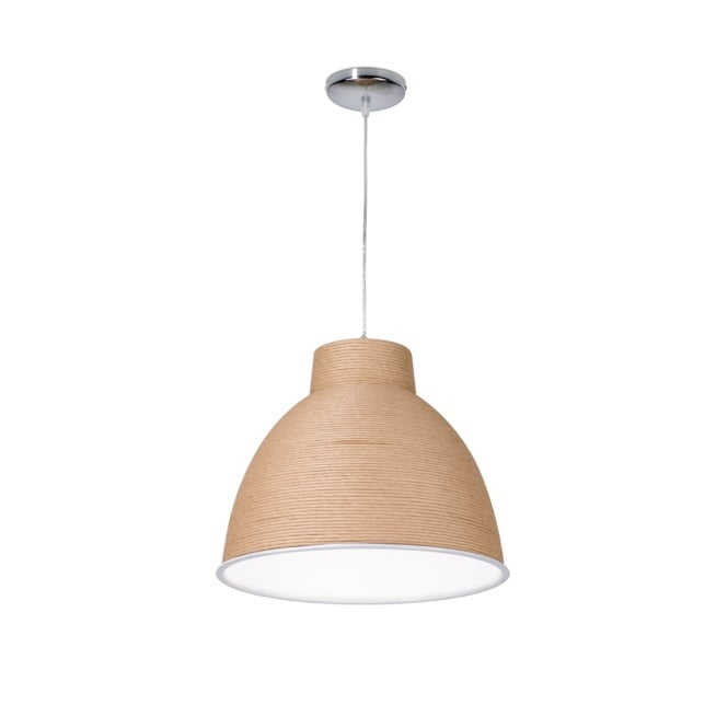Linea Verdace HANGAR contemporary brown paper finished ceiling light