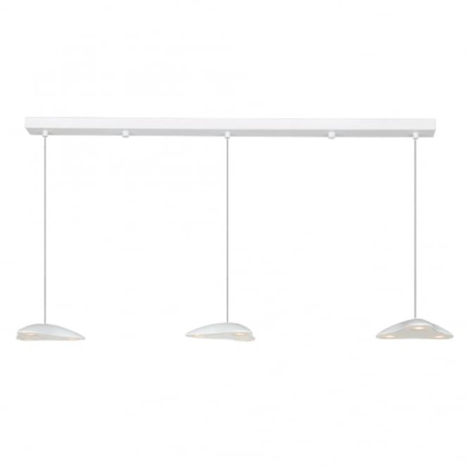 Linea Verdace INVADOR LED 3 light white ceiling bar pendant